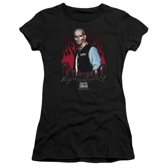 Suicide Squad Diablo Flames Premium Bella Junior Sheer Jersey