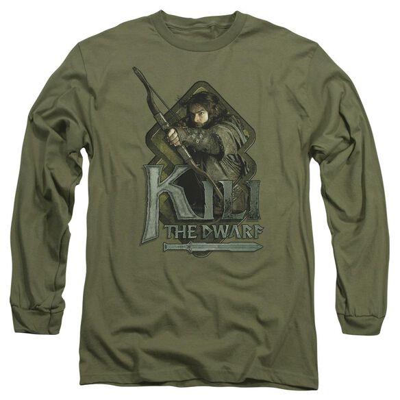 The Hobbit Kili Long Sleeve Adult Military T-Shirt