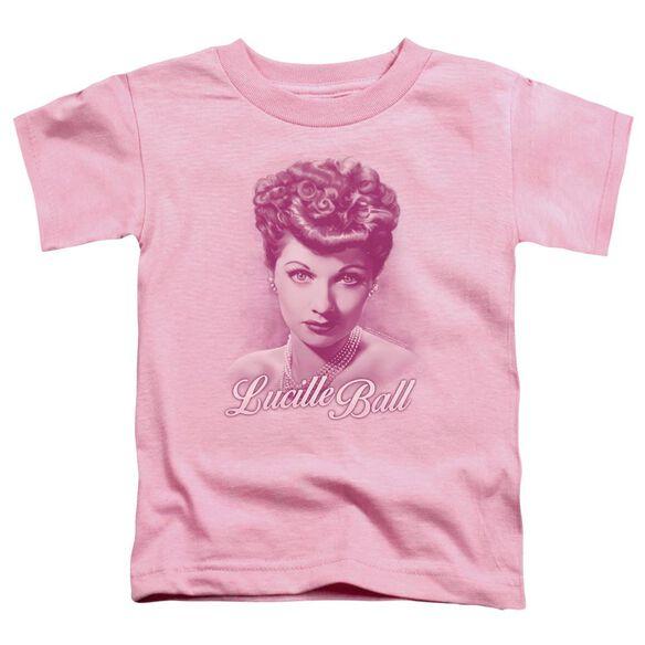Lucille Ball Pearls Short Sleeve Toddler Tee Pink T-Shirt