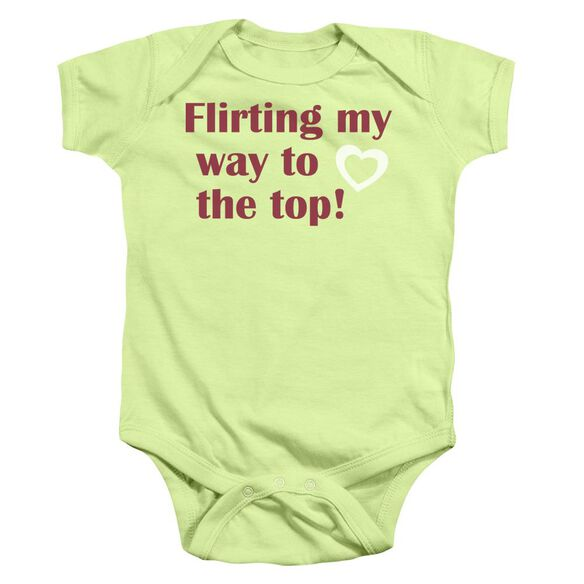 Flirting Infant Snapsuit Soft Green Md