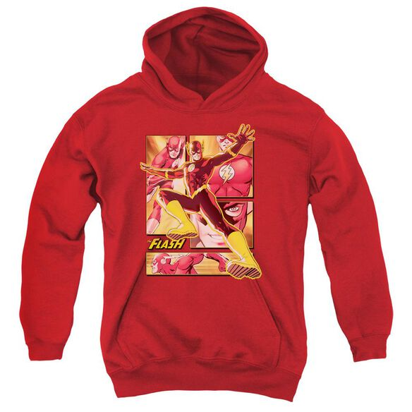 Jla Flash Youth Pull Over Hoodie