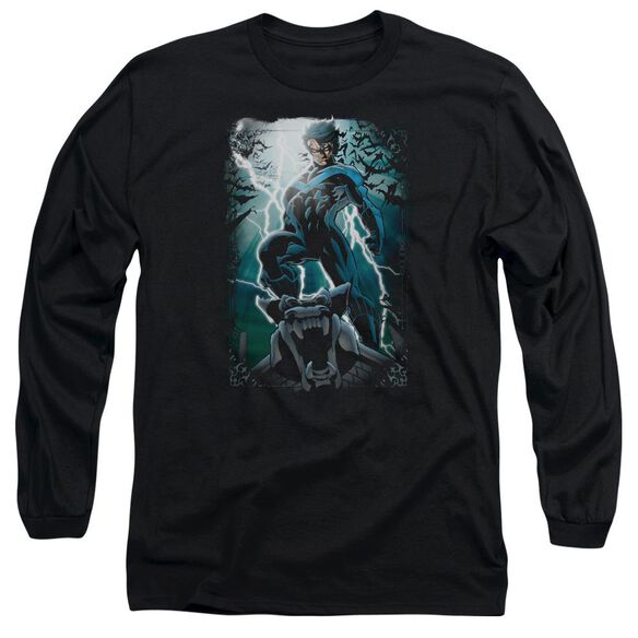 Batman Night Light Long Sleeve Adult T-Shirt