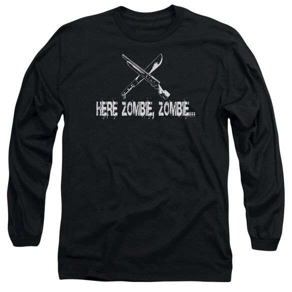 Here Zombie Zombie Long Sleeve Adult T-Shirt