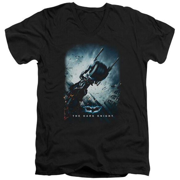 Dark Knight Bat Pod Poster Short Sleeve Adult V Neck T-Shirt