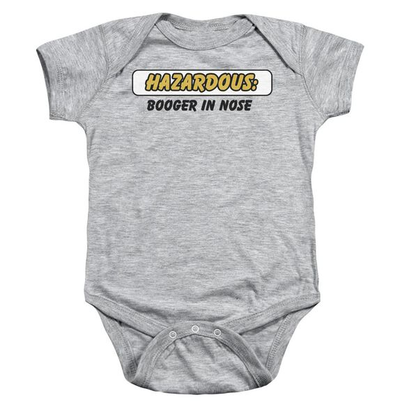Hazardous Infant Snapsuit Athletic Heather Md