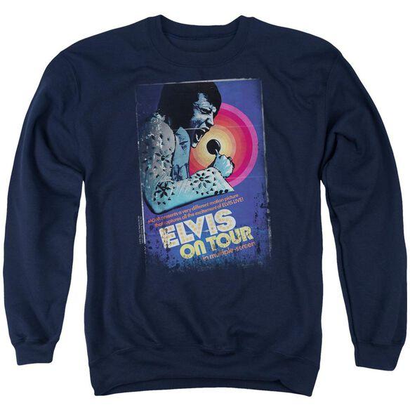 Elvis On Tour Poster Adult Crewneck Sweatshirt