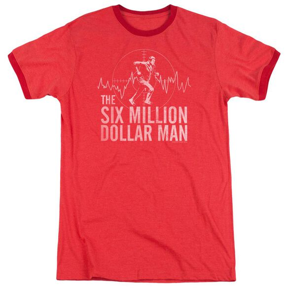 Six Million Dollar Man Target Adult Heather Ringer Red
