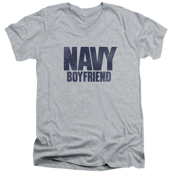 Navy Boyfriend Short Sleeve Adult V Neck Athletic T-Shirt