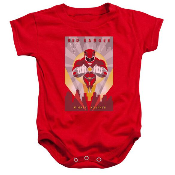 Power Rangers Red Deco Infant Snapsuit Red