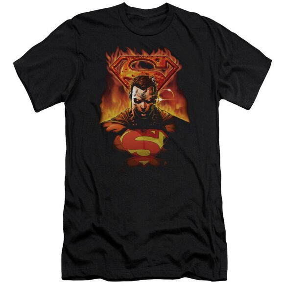 Superman Man On Fire Premuim Canvas Adult Slim Fit