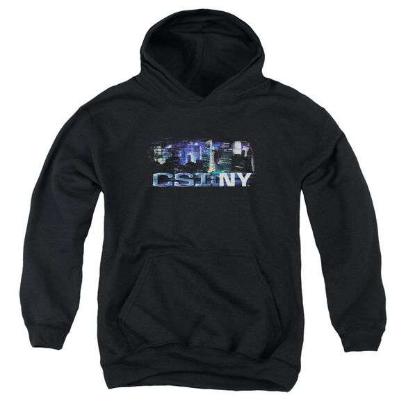Csi Ny Never Rests Youth Pull Over Hoodie