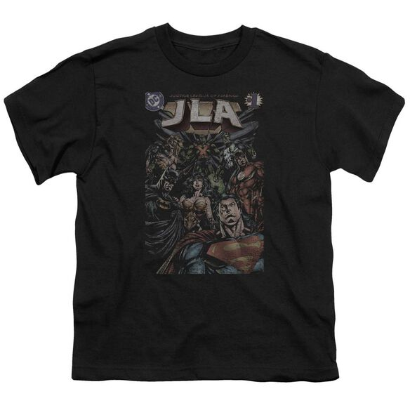 Jla #1 Cover Short Sleeve Youth T-Shirt