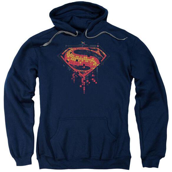 Batman V Superman Tech Super Logo Adult Pull Over Hoodie