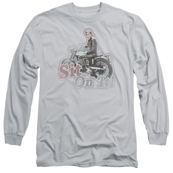 HAPPY DAY IT ON IT! - L/S ADULT 18/1 - SILVER T-Shirt