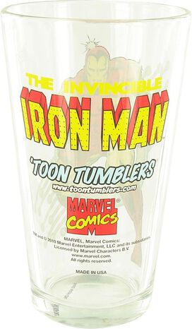 Iron Man Classic Fist Pint Glass