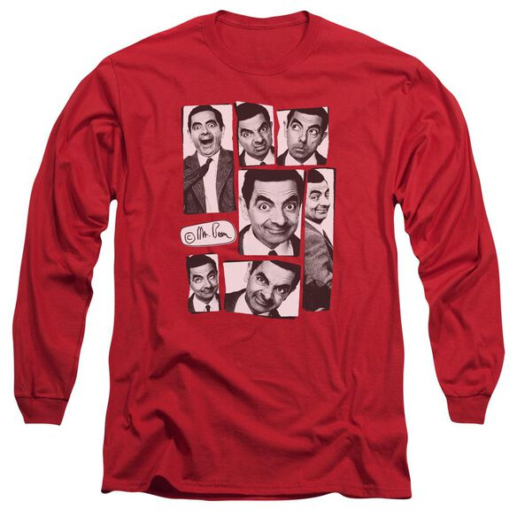 Mr Bean Boxed Beans Long Sleeve Adult T-Shirt