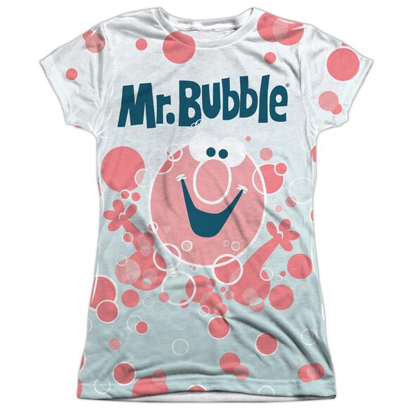Mr Bubble Bubbles Everywhere Short Sleeve Junior Poly Crew T-Shirt