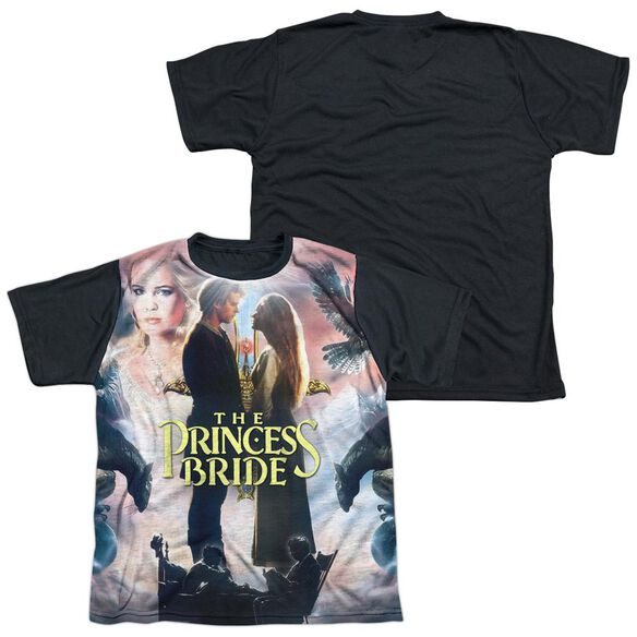 Princess Bride Soft Collage Short Sleeve Youth Front Black Back T-Shirt