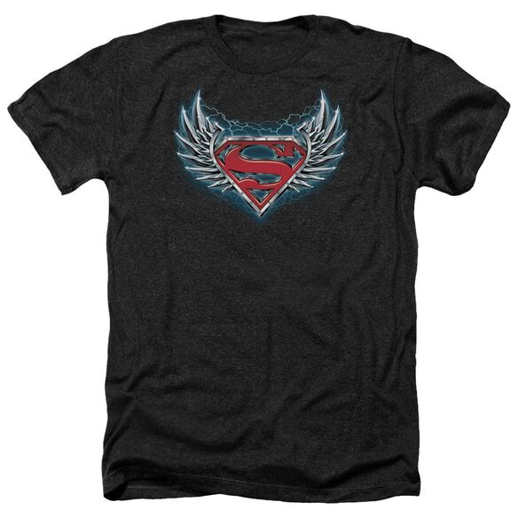 Superman Steel Wings Logo Adult Heather