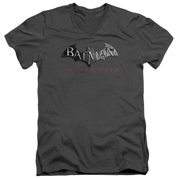 Arkham City Logo Short Sleeve Adult V Neck T-Shirt