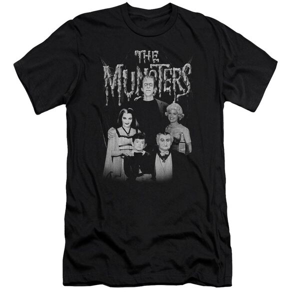 The Munsters Family Portrait Premuim Canvas Adult Slim Fit