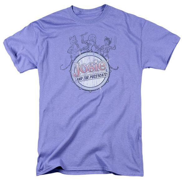 Archie Comics Drum Head Short Sleeve Adult Lavendar T-Shirt