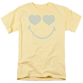 Smiley World Eyes For You Short Sleeve Adult Banana T-Shirt