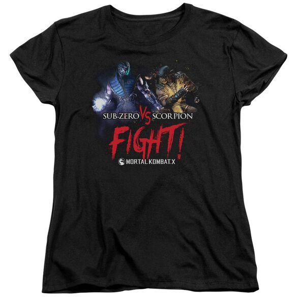 Mortal Kombat Fight Short Sleeve Womens Tee T-Shirt