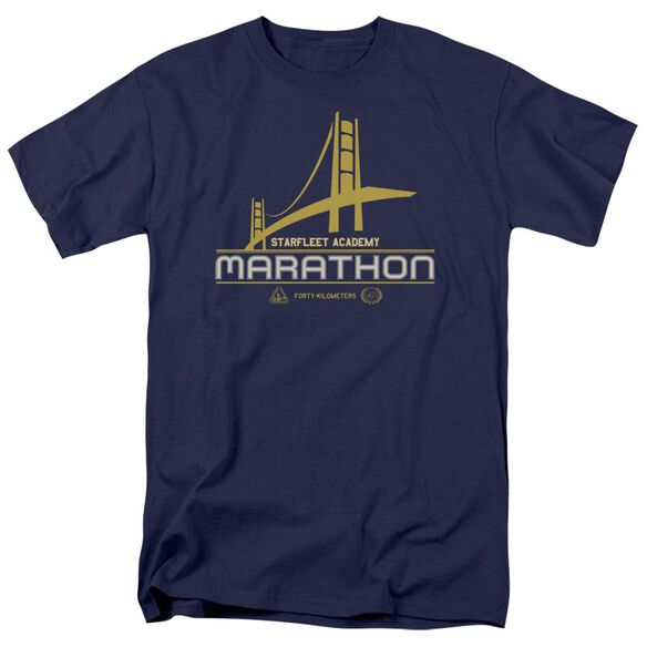 Star Trek Marathon Logo Short Sleeve Adult Navy T-Shirt