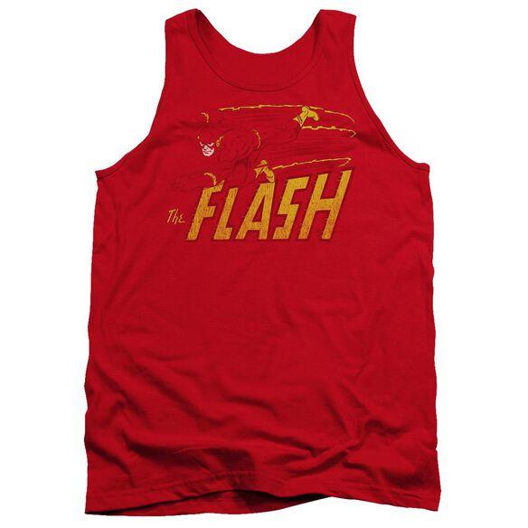 Dc Flash Speed Distressed Adult Tank