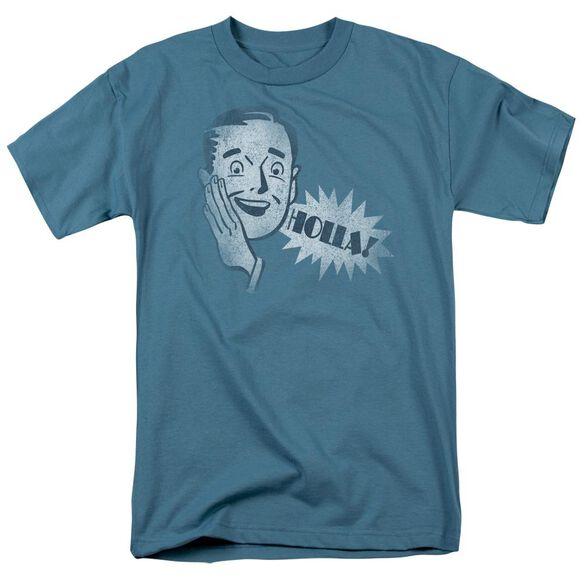 Holla Short Sleeve Adult Slate T-Shirt
