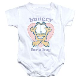Garfield Hungry For A Hug Infant Snapsuit White Md