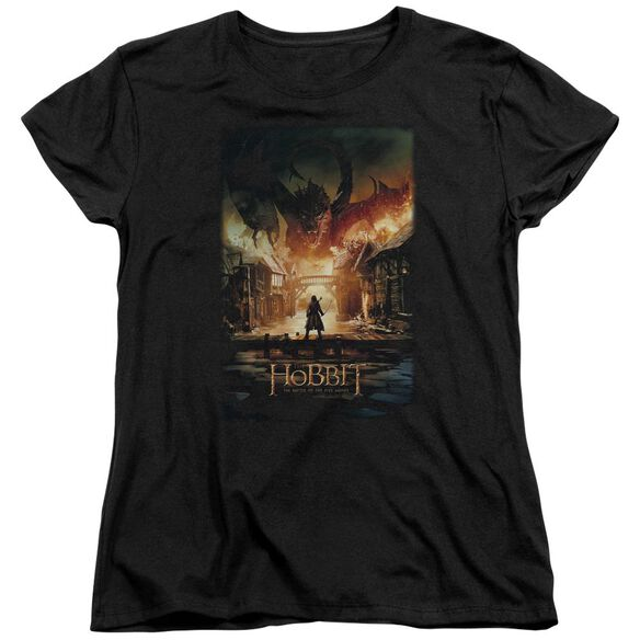 Hobbit Smaug Poster Short Sleeve Womens Tee T-Shirt