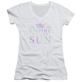 Empire Of The Sun Rainbow Logo Junior V Neck T-Shirt