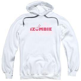 Izombie Splatter Logo Adult Pull Over Hoodie