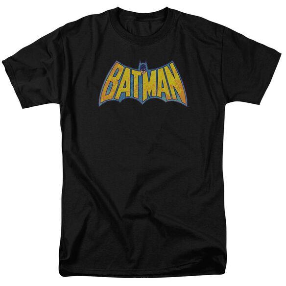 Dco Batman Neon Distress Logo Short Sleeve Adult T-Shirt