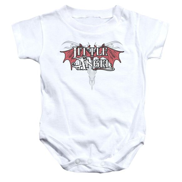 Little Angel Infant Snapsuit White Md