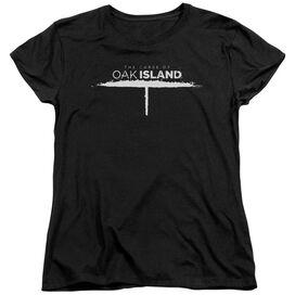 The Curse Of Oak Island Tunnel Logo Short Sleeve Womens Tee T-Shirt