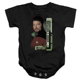 Star Trek Riker Infant Snapsuit Black