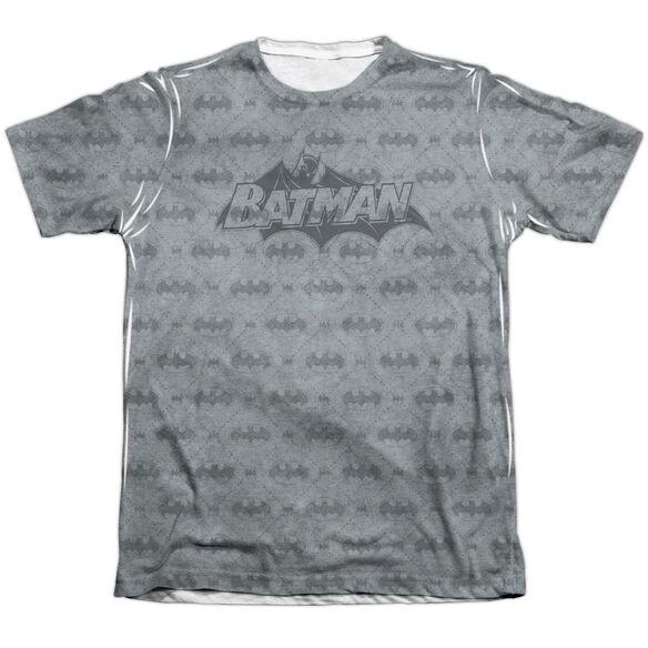 Batman Classic Bat Argyle Adult 65 35 Poly Cotton Short Sleeve Tee T-Shirt