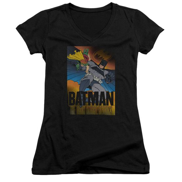 Batman Dk Returns Junior V Neck T-Shirt