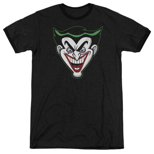 Batman Bb Animated Joker Head Adult Heather Ringer