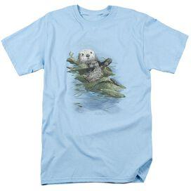 Wildlife Kelp Cradle Otters Short Sleeve Adult Light T-Shirt