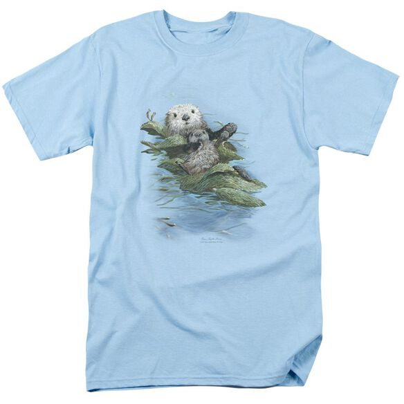 Wildlife Kelp Cradle Otters Short Sleeve Adult Light T-Shirt