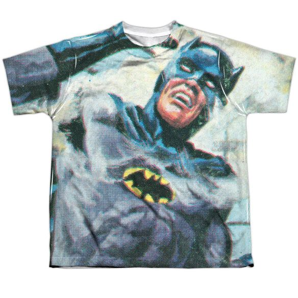 Batman Classic Tv Foliage Short Sleeve Youth Poly Crew T-Shirt
