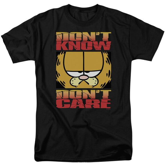 Garfield Don't Know Don't Care Short Sleeve Adult T-Shirt