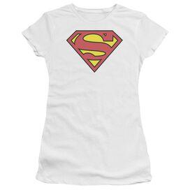 Superman Classic Logo Short Sleeve Junior Sheer T-Shirt