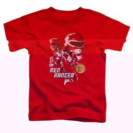 Power Rangers Red Ranger Short Sleeve Toddler Tee Red T-Shirt