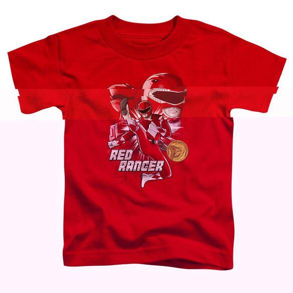 Power Rangers Red Ranger Short Sleeve Toddler Tee Red T-Shirt