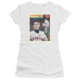 I Love Lucy Trading Card Short Sleeve Junior Sheer T-Shirt